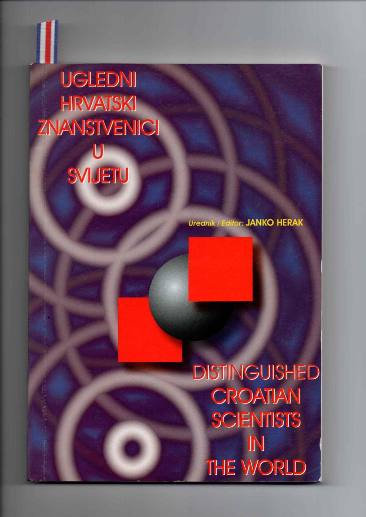 Tapa del libro Distinguidos científicos croatas el mundo